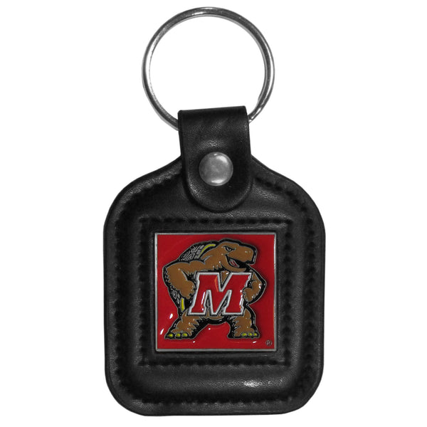 Maryland Terrapins Square Leatherette Key Chain