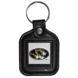 Missouri Tigers Square Leatherette Key Chain