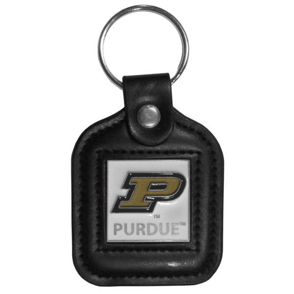 Purdue Boilermakers Square Leatherette Key Chain