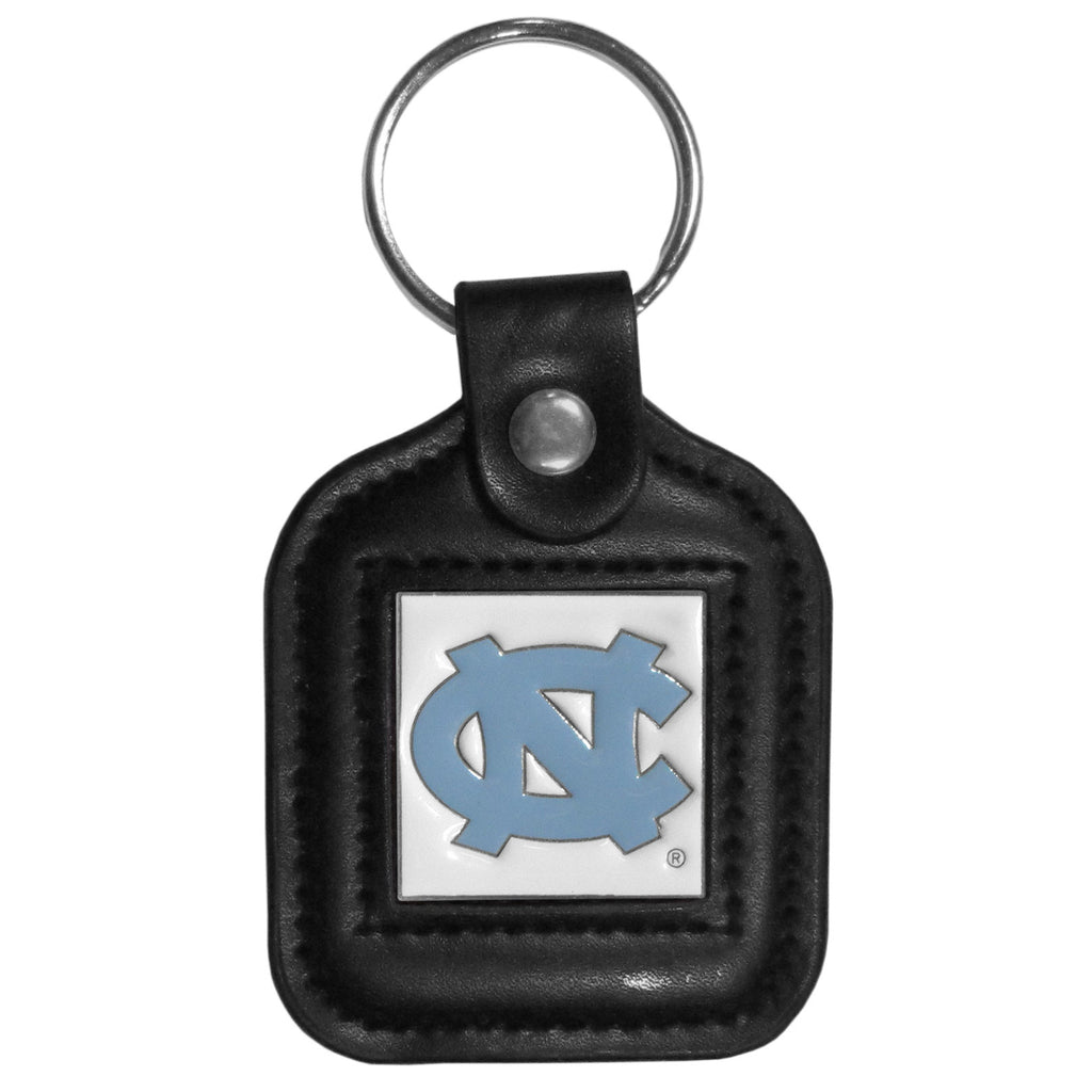 N. Carolina Tar Heels Square Leatherette Key Chain