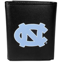 N. Carolina Tar Heels Leather Tri-fold Wallet, Large Logo