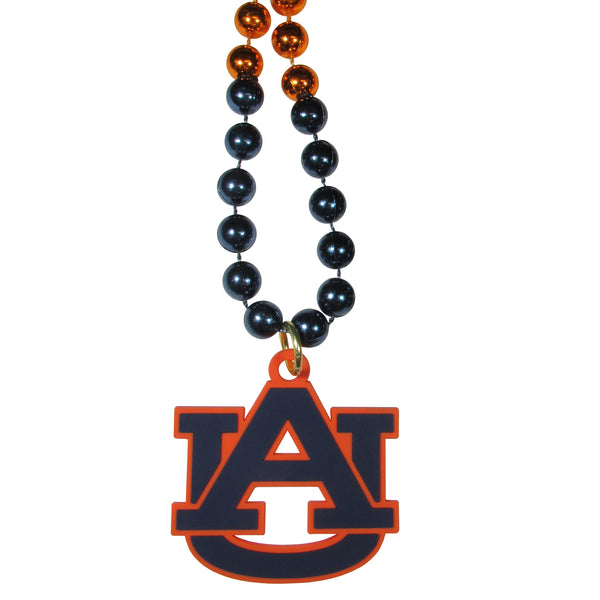 Auburn Tigers Mardi Gras Bead Necklace