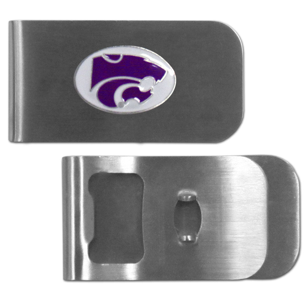 Kansas St. Wildcats Bottle Opener Money Clip