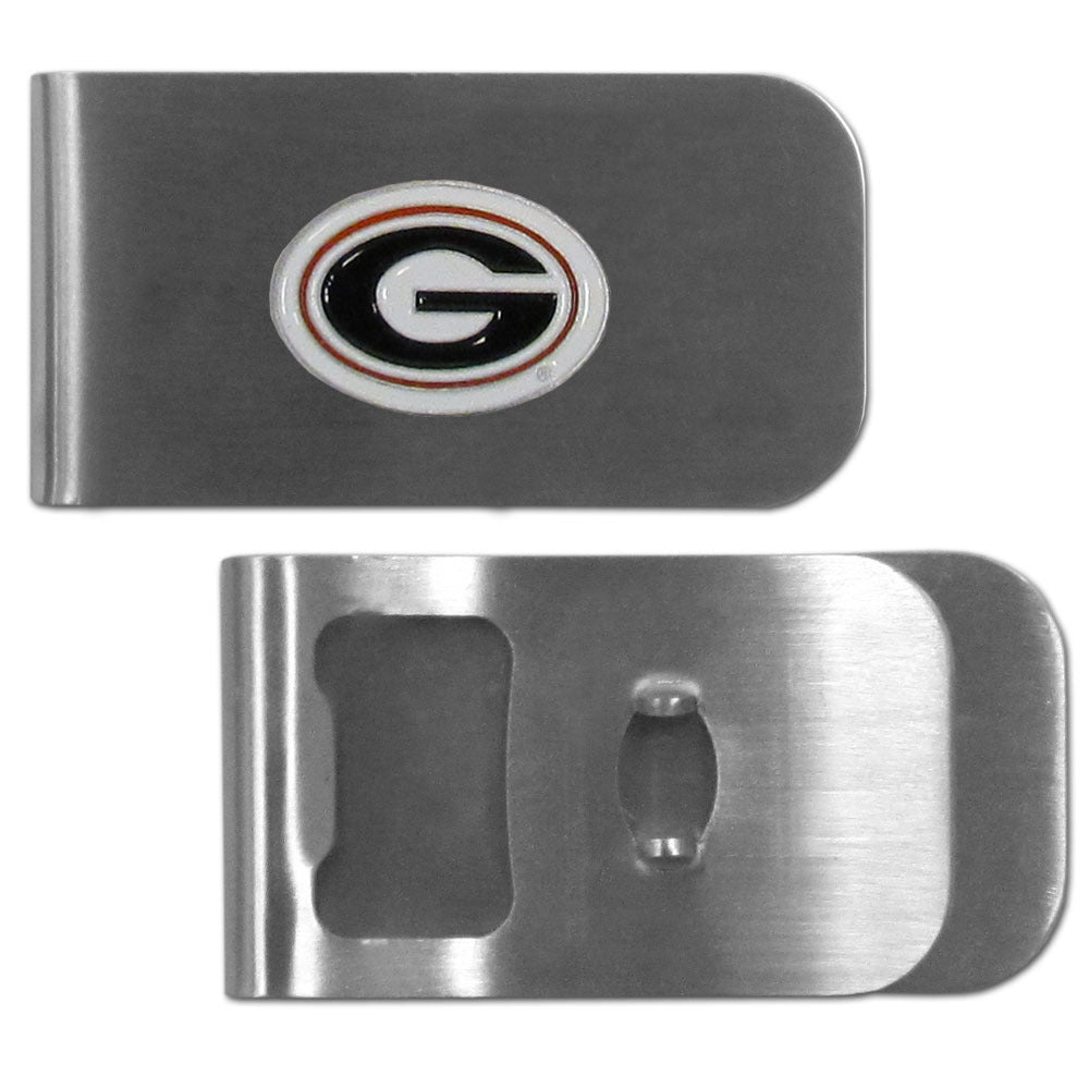 Georgia Bulldogs Bottle Opener Money Clip
