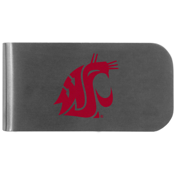 Washington St. Cougars Logo Bottle Opener Money Clip