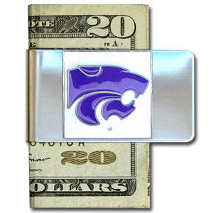 Kansas St. Wildcats Steel Money Clip