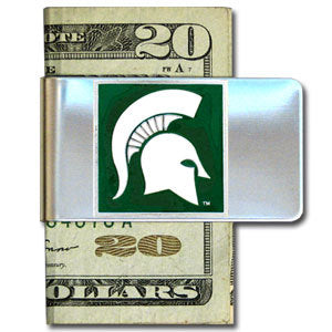 Michigan St. Spartans Steel Money Clip