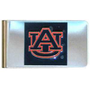 Auburn Tigers Steel Money Clip