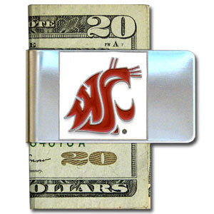Washington St. Cougars Steel Money Clip