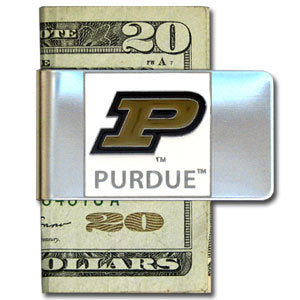 Purdue Boilermakers Steel Money Clip