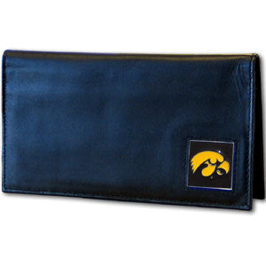 Iowa Hawkeyes Leather Checkbook Cover