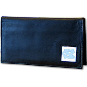 N. Carolina Tar Heels Leather Checkbook Cover
