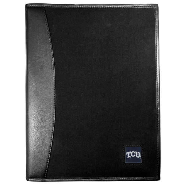 TCU Horned Frogs Leather and Canvas Padfolio