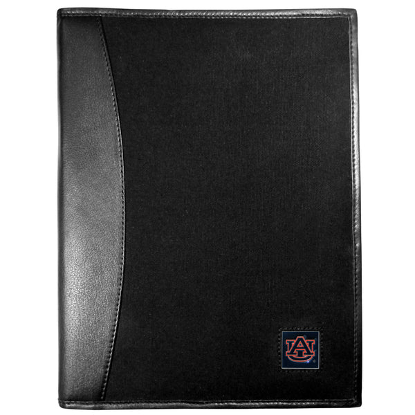 Auburn Tigers Leather and Canvas Padfolio