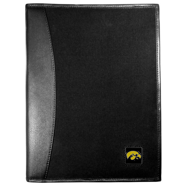 Iowa Hawkeyes Leather and Canvas Padfolio