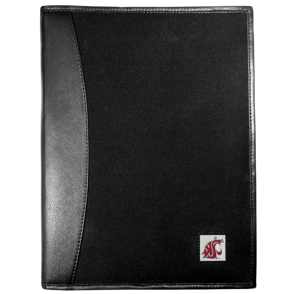 Washington St. Cougars Leather and Canvas Padfolio
