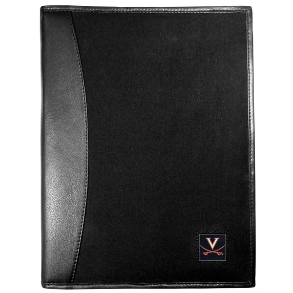 Virginia Cavaliers Leather and Canvas Padfolio