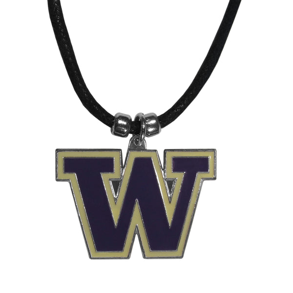 Washington Huskies Cord Necklace