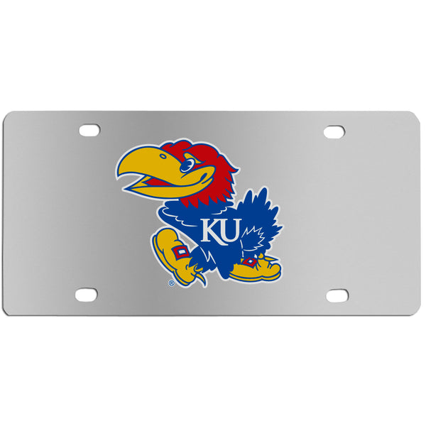 Kansas Jayhawks Steel License Plate Wall Plaque
