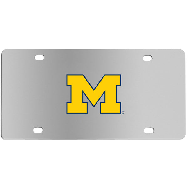 Michigan Wolverines Steel License Plate Wall Plaque