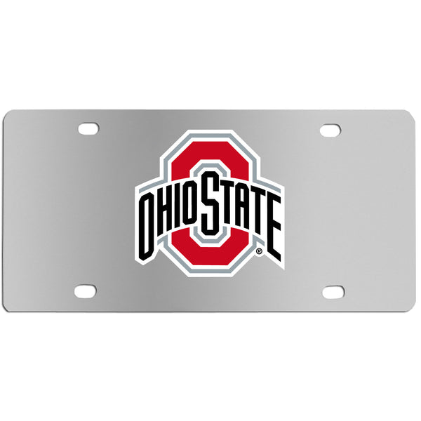 Ohio St. Buckeyes Steel License Plate Wall Plaque