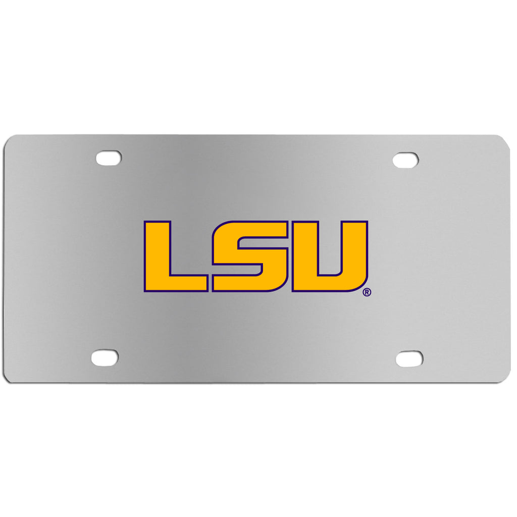 LSU Tigers Steel License Plate Wall Plaque