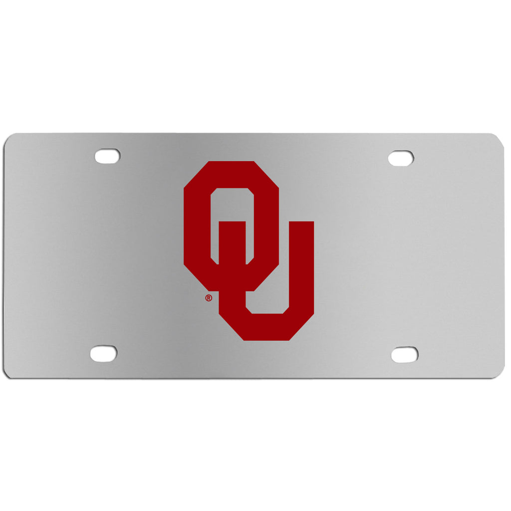 Oklahoma Sooners Steel License Plate Wall Plaque