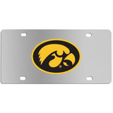 Iowa Hawkeyes Steel License Plate Wall Plaque