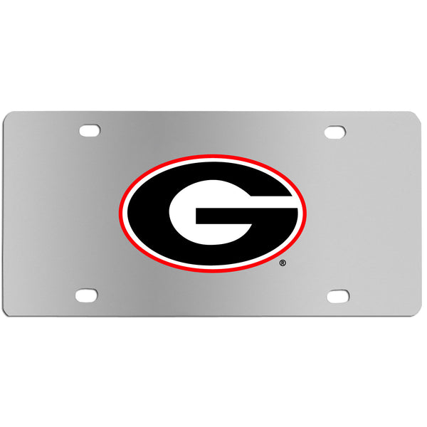 Georgia Bulldogs Steel License Plate Wall Plaque