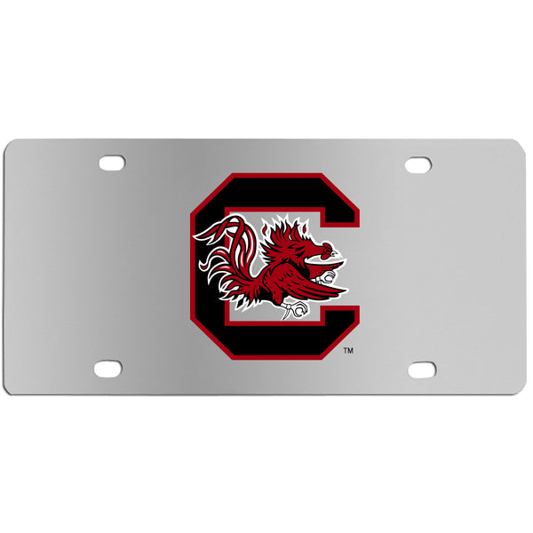 S. Carolina Gamecocks Steel License Plate Wall Plaque