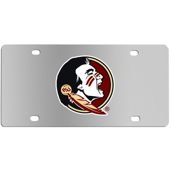 Florida St. Seminoles Steel License Plate Wall Plaque