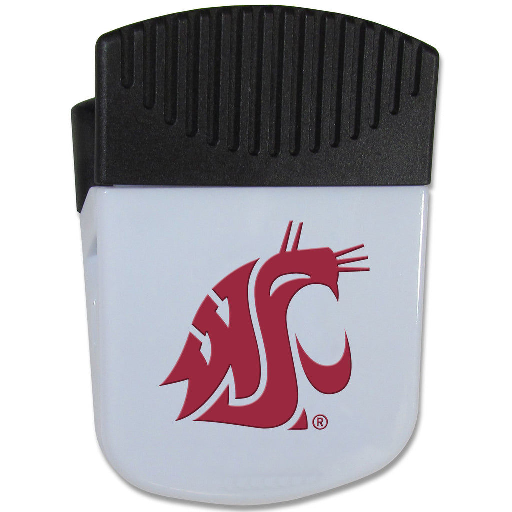 Washington St. Cougars Chip Clip Magnet With Bottle Opener