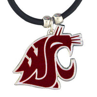 Washington St. Cougars Rubber Cord Necklace