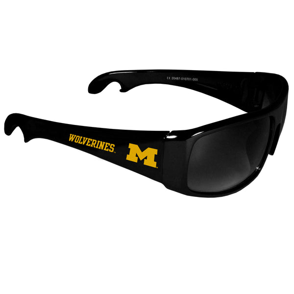Michigan Wolverines Wrap Bottle Opener Sunglasses
