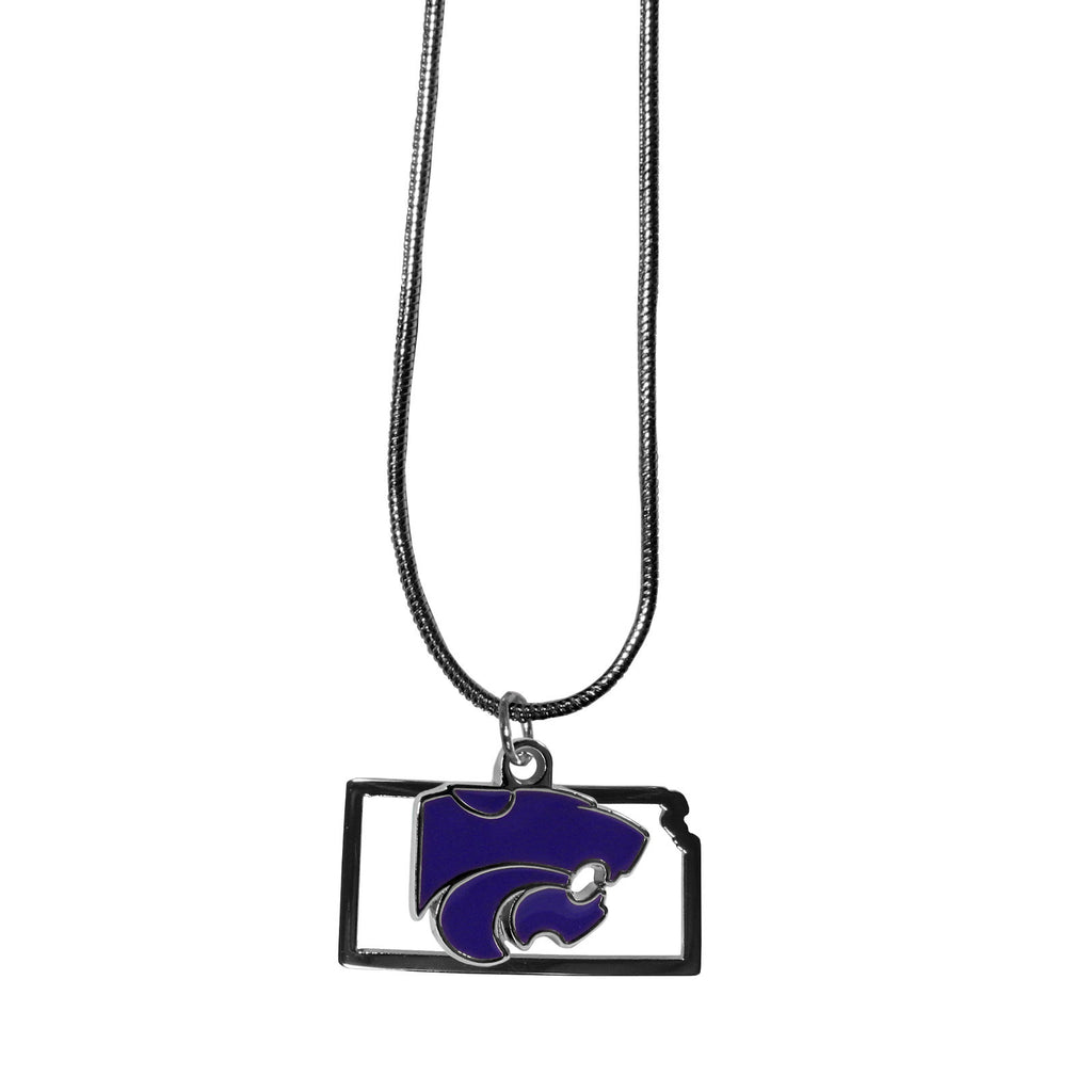 Kansas St. Wildcats State Charm Necklace