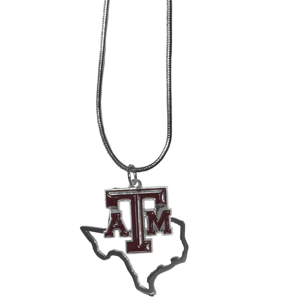 Texas A & M Aggies State Charm Necklace