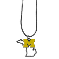 Michigan Wolverines State Charm Necklace