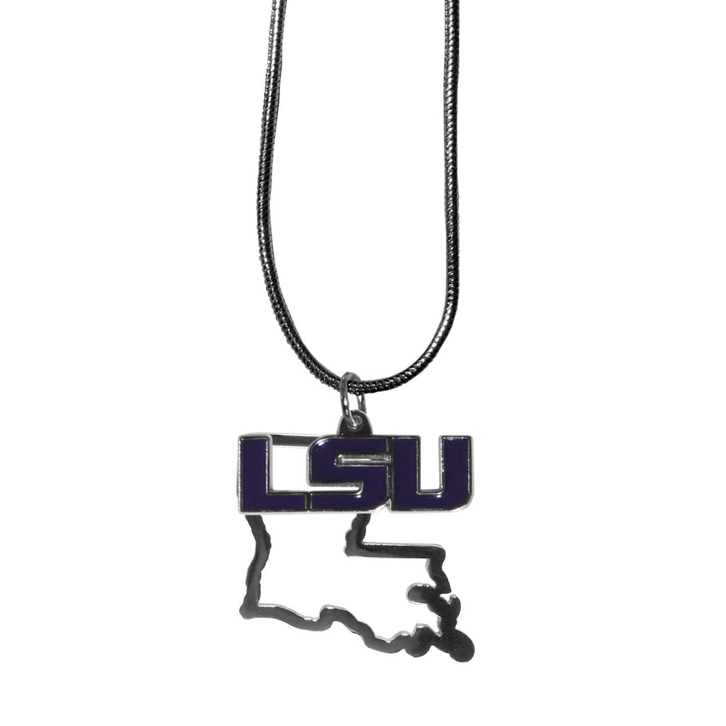 LSU Tigers State Charm Necklace