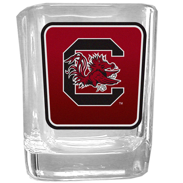 S. Carolina Gamecocks Square Glass Shot Glass
