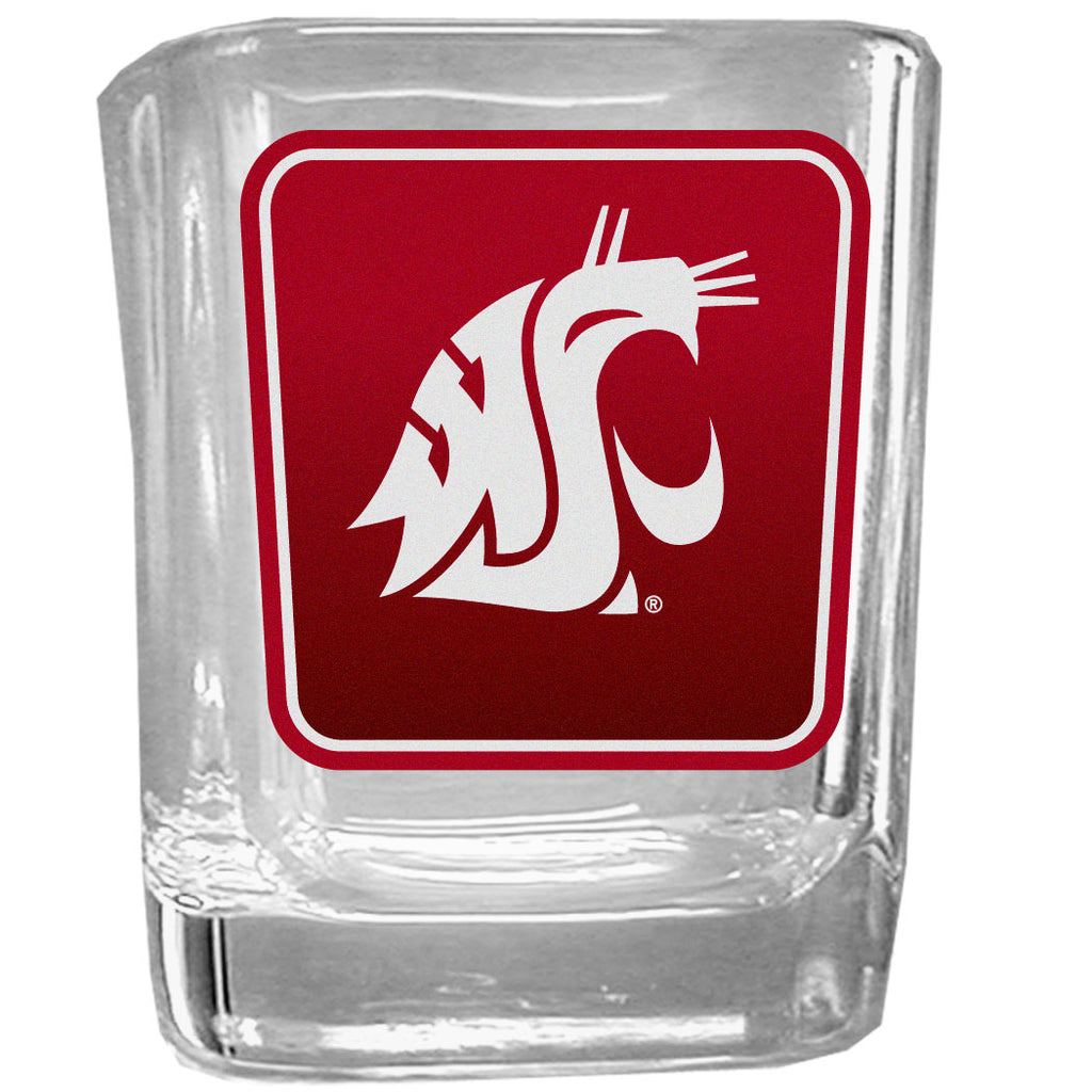 Washington St. Cougars Square Glass Shot Glass