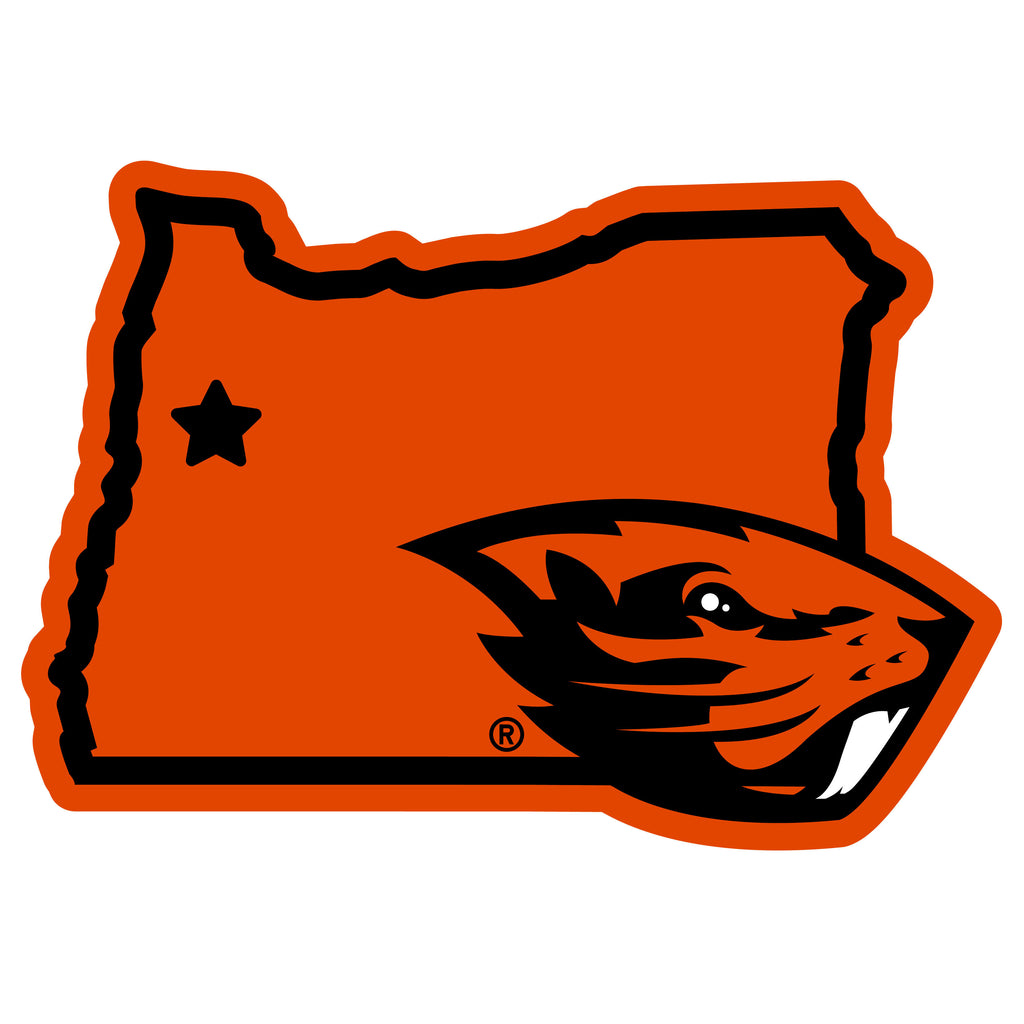 Oregon St. Beavers Home State 11 Inch Magnet