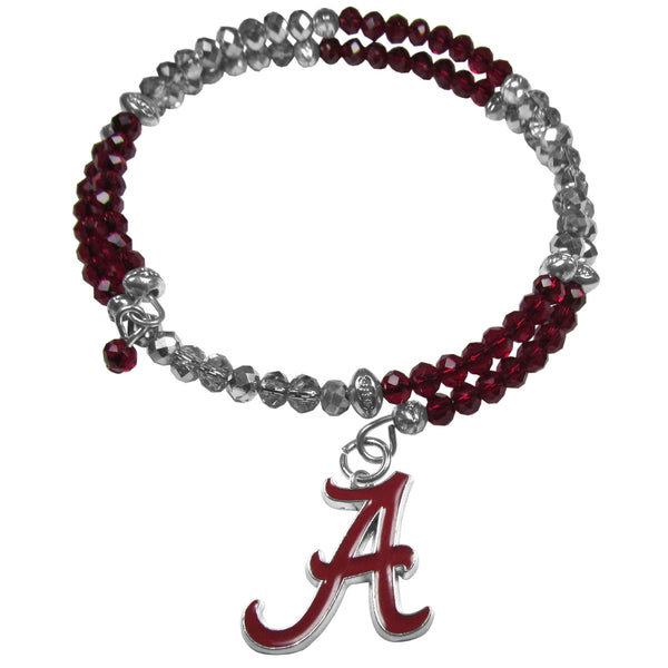 Alabama Crimson Tide Crystal Memory Wire Bracelet