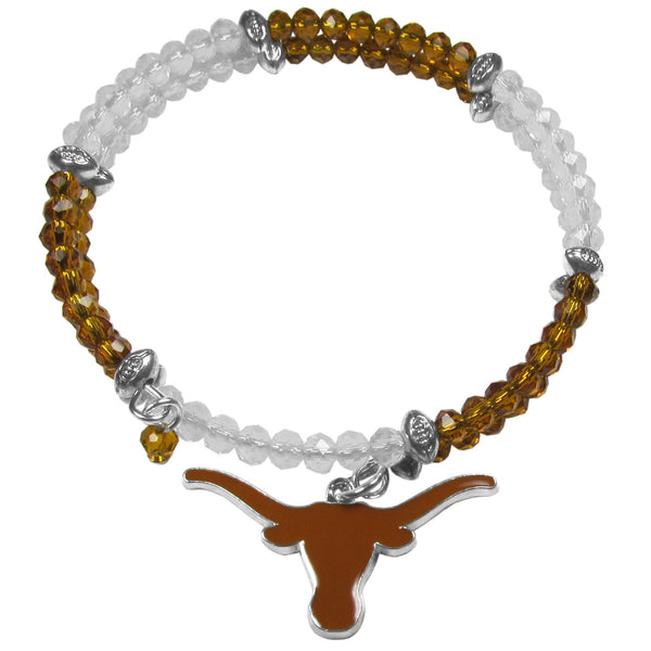 Texas Longhorns Crystal Memory Wire Bracelet