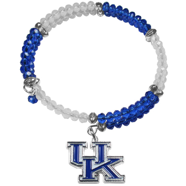Kentucky Wildcats Crystal Memory Wire Bracelet