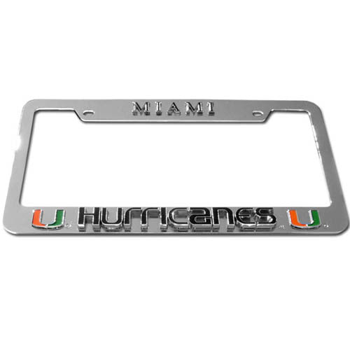 Miami Hurricanes Deluxe Tag Frame