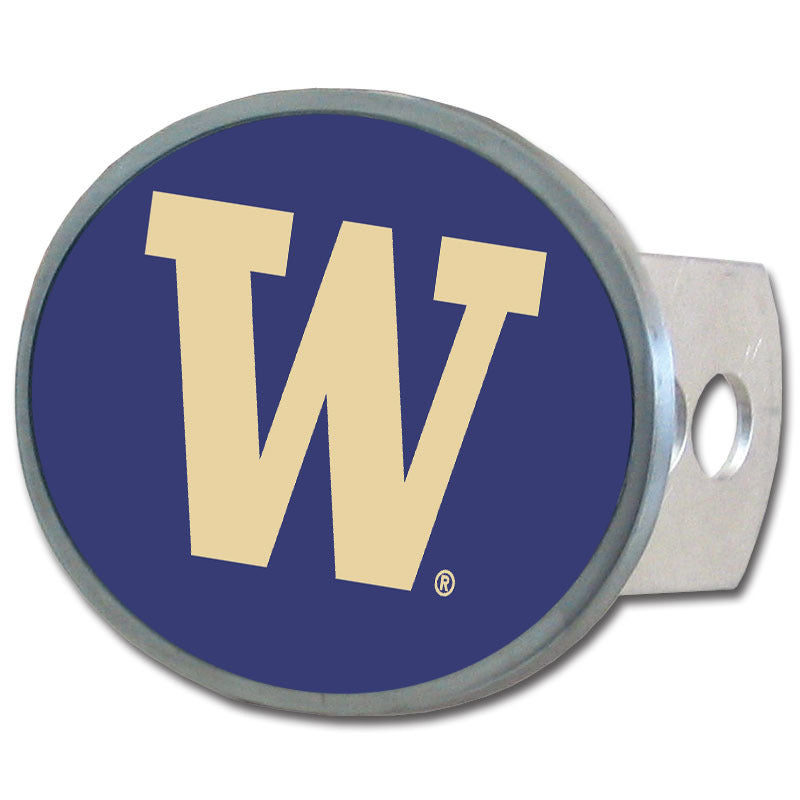 Washington Huskies Oval Metal Hitch Cover Class II and III