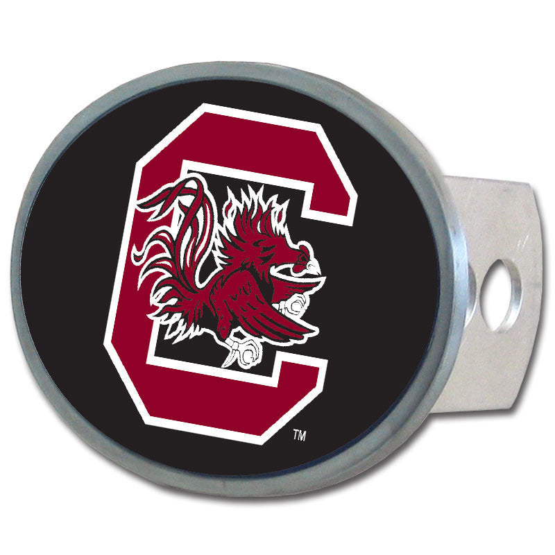 S. Carolina Gamecocks Oval Metal Hitch Cover Class II and III