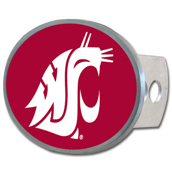Washington St. Cougars Oval Metal Hitch Cover Class II and III
