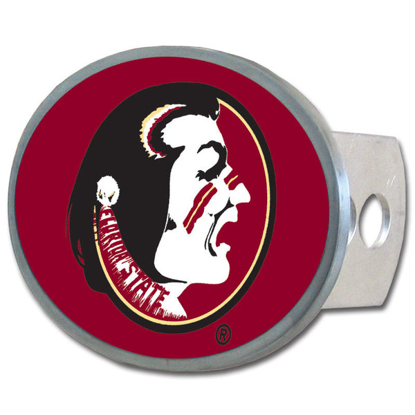 Florida St. Seminoles Oval Metal Hitch Cover Class II and III