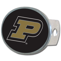Purdue Boilermakers Oval Metal Hitch Cover Class II and III